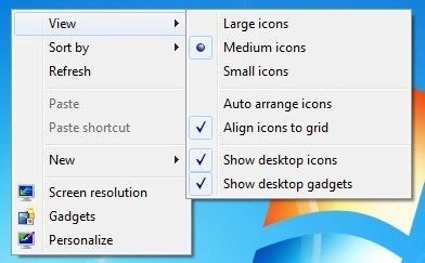 Show icons
